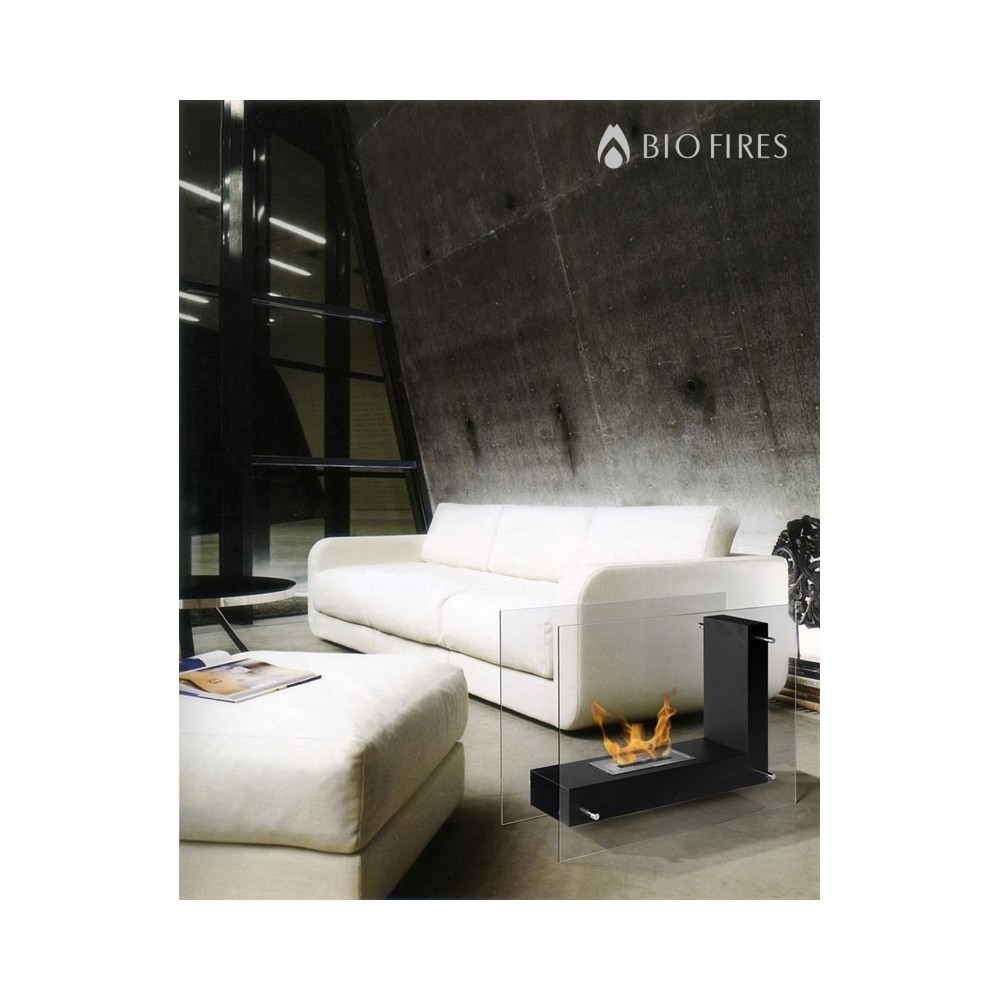 Glass Bio Ethanol Large Fireplace