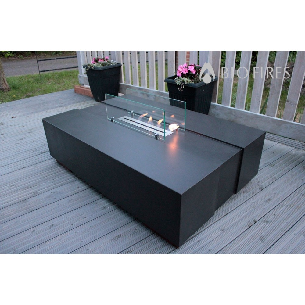 Concrete Coffee Table With Built In Bioethanol Insert