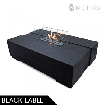NEW - Bespoke Polished Concrete Bioethanol Fire Coffee Table