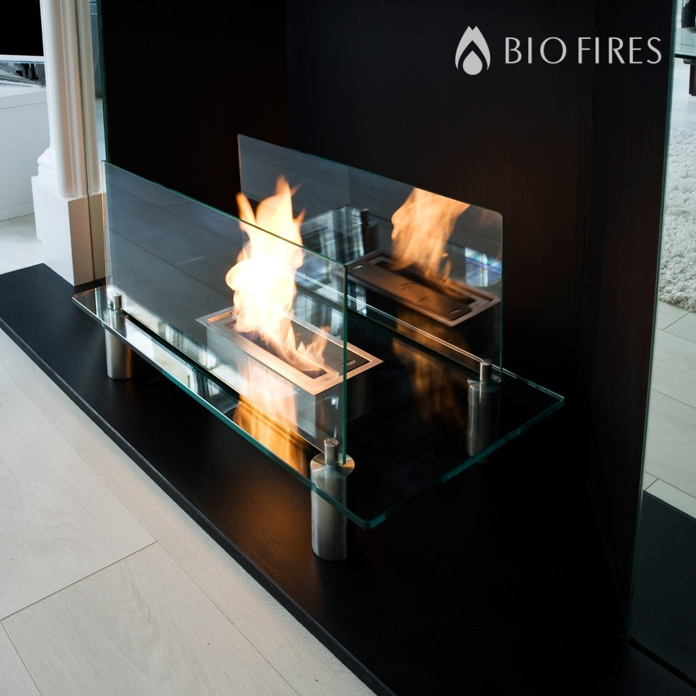 glass bio ethanol fire. Black Bedroom Furniture Sets. Home Design Ideas