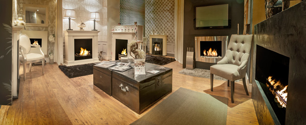 Bio ethanol fireplaces showroom in central London