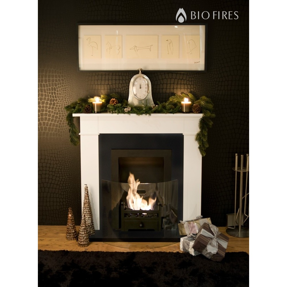 carrington cream traditional bio ethanol fireplace bio fires