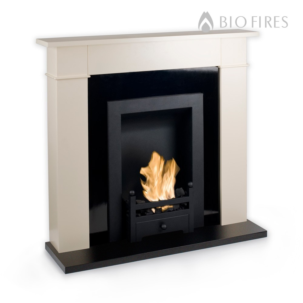 Carrington Cream Traditional Bio Ethanol Fireplace Bio