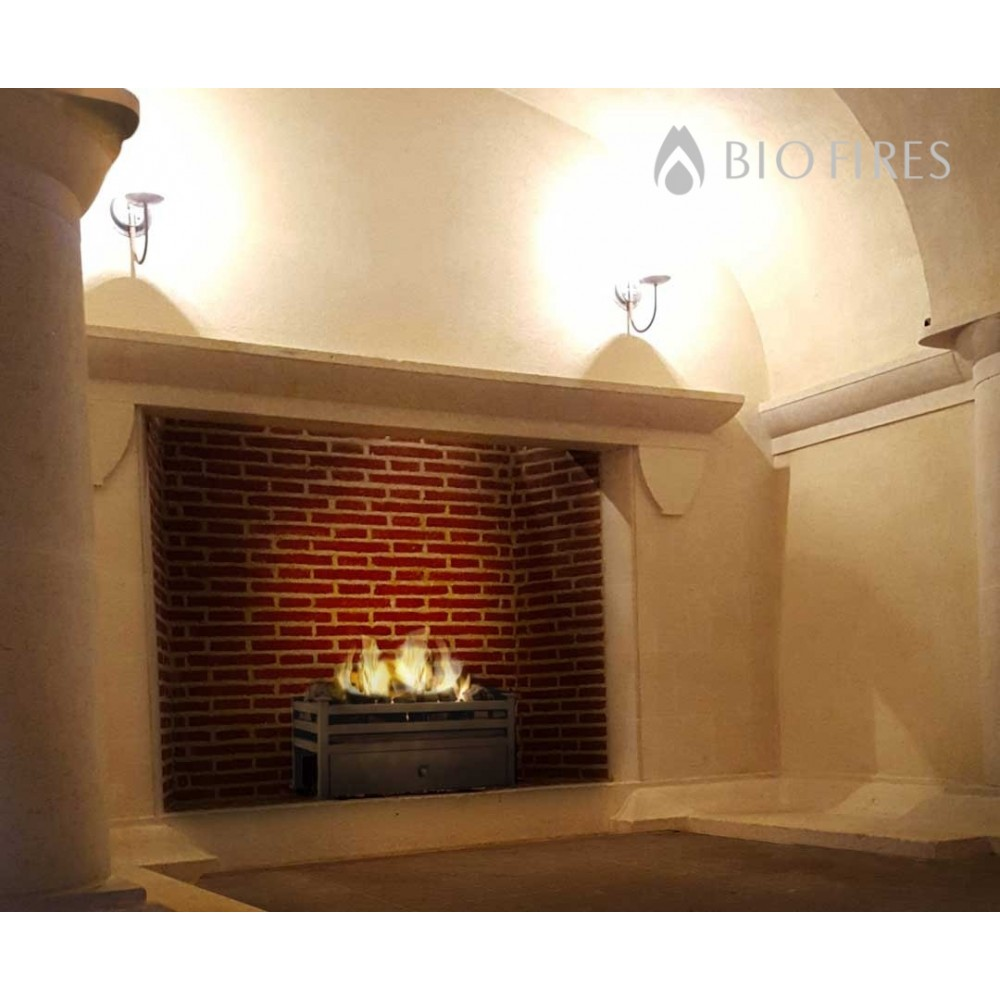 Luxury Montagu Traditional Bio Ethanol Fire Grate In Black