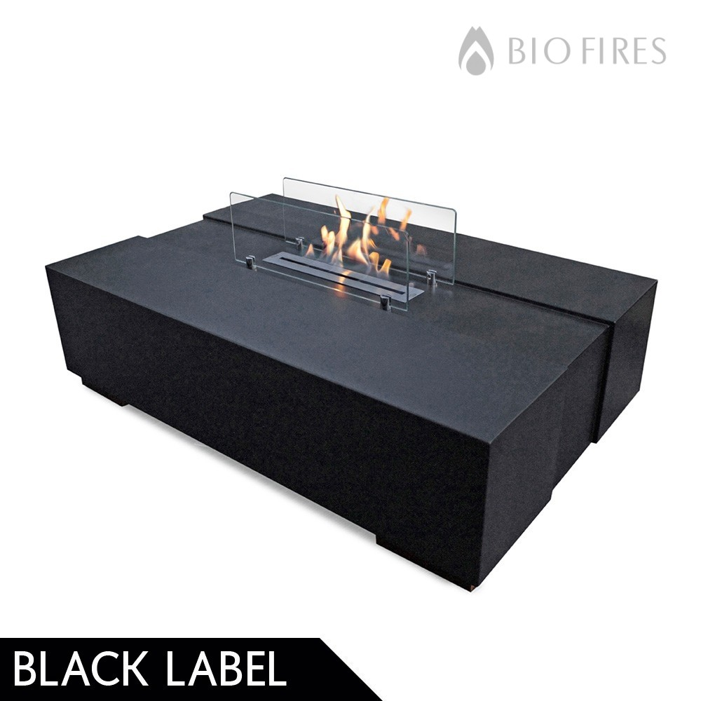 Decoflame Ellipse Flueless Fire: Bio Ethanol Fireplace Coffee Table
