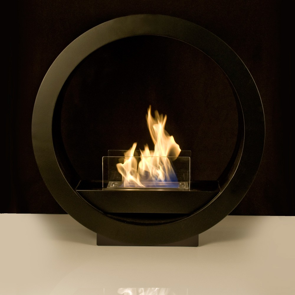 black globe flame bio ethanol fireplace. Black Bedroom Furniture Sets. Home Design Ideas