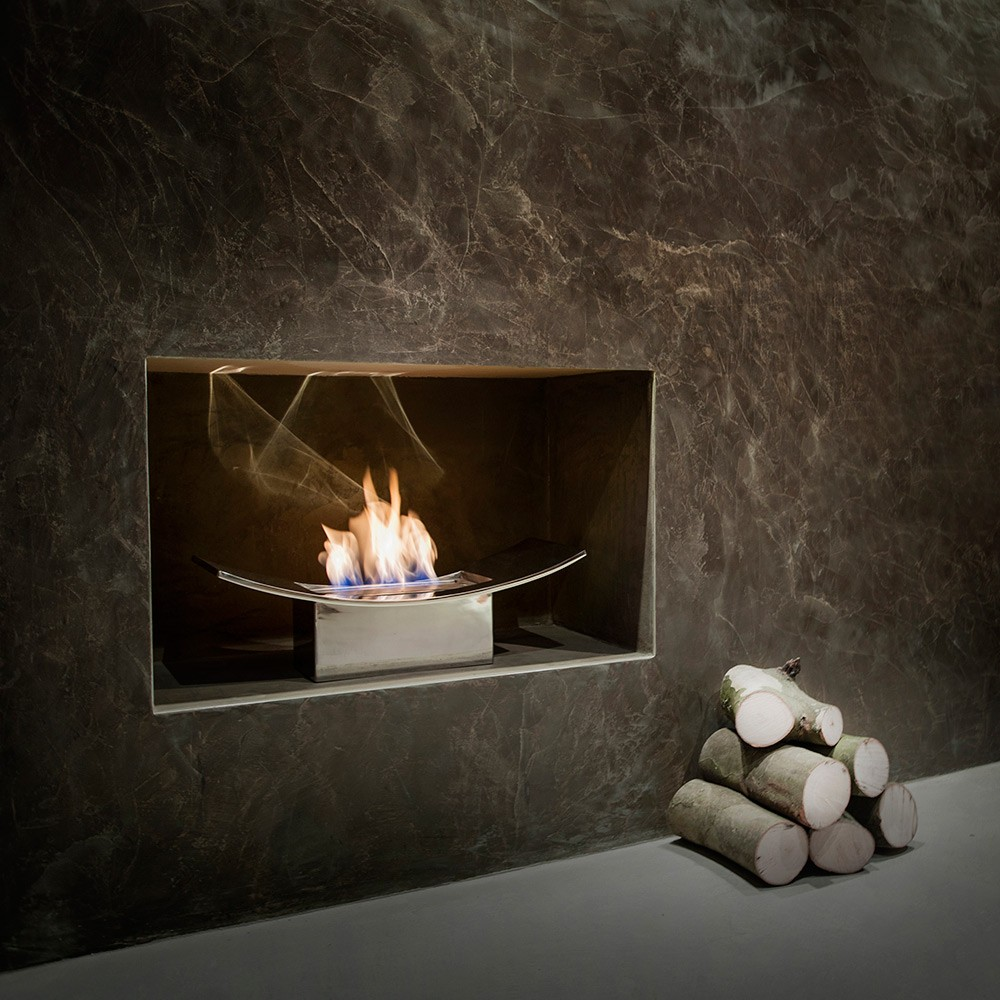 Zen Bio Fireplace in Mirrored Finish - Bio Fires (Gel ...