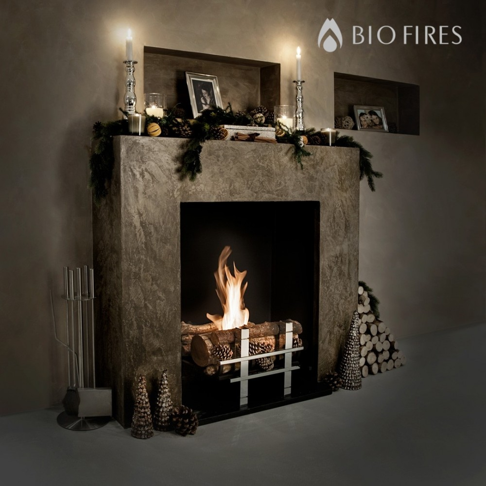 Cotswold Real Log Bio Fire Grate Bio Fires Gel