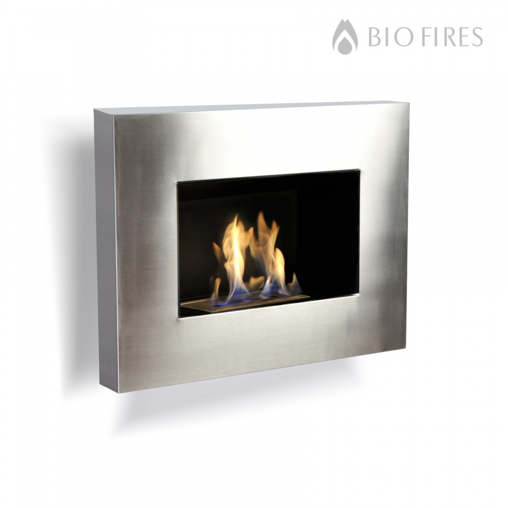 stainless steel wall mounted fireplace
